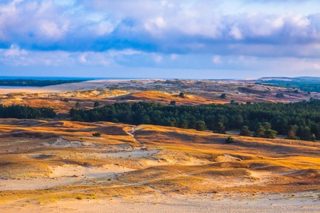 Nida - Curonian Spit and Curonian Lagoon, Nida, Klaipeda, Lithuania. Baltic Dunes.