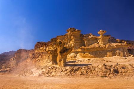 Bolnuevo Mazarron eroded sandstones in Murcia spain Фото со стока - 110858913