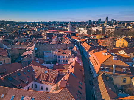 aerial view of Vilnius old city
