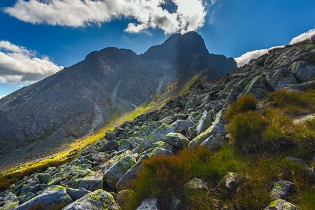 Landscape in European mountains, High Tatras, Slovakia, central Europe, beauty world, wallpaper landscape background Imagens