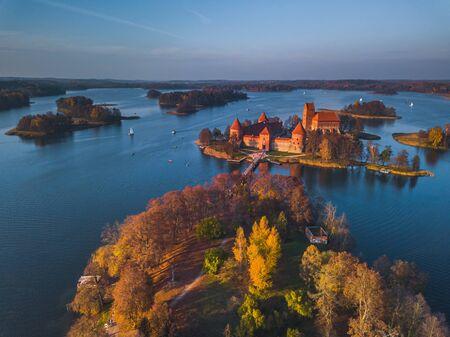 Beautiful drone landscape image of Trakai castle Reklamní fotografie