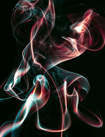 Colourful smoke forms, dynamic abstract design image