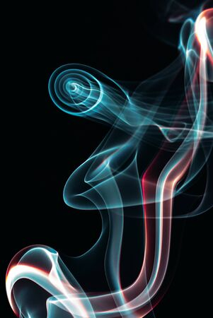 Colourful smoke forms, dynamic abstract design image Banque d'images