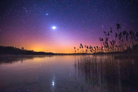 Zodiac light and the Milky Way on a beautiful night