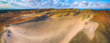 Beautiful Grey Dunes, Dead Dunes at the Curonian Spit in Nida, Neringa, Lithuania Banco de Imagens - 152745512