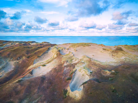 Beautiful Grey Dunes, Dead Dunes at the Curonian Spit in Nida, Neringa, Lithuania Banco de Imagens - 152745513