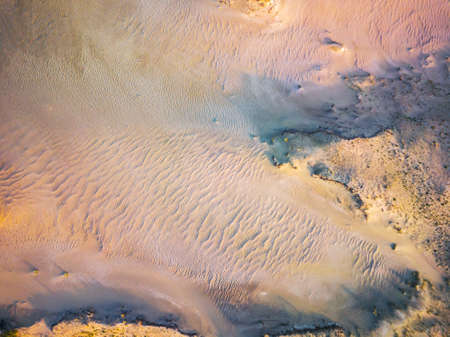 Sand textures at Grey Dunes, Dead Dunes at the Curonian Spit in Nida, Neringa, Lithuania Banco de Imagens - 152745522