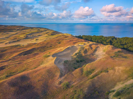 Beautiful Grey Dunes, Dead Dunes at the Curonian Spit in Nida, Neringa, Lithuania Banco de Imagens - 152745536
