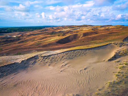 Beautiful Grey Dunes, Dead Dunes at the Curonian Spit in Nida, Neringa, Lithuania