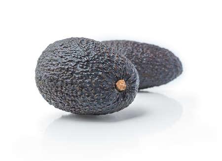 Avocado isolated on white background. Two Avocadoes close up Zdjęcie Seryjne