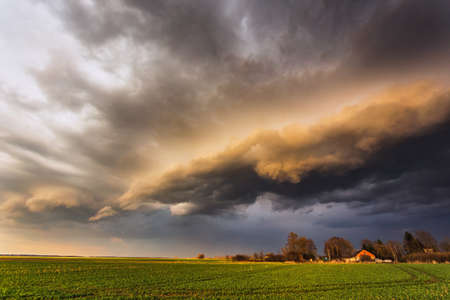 Storm Clouds in sunset light