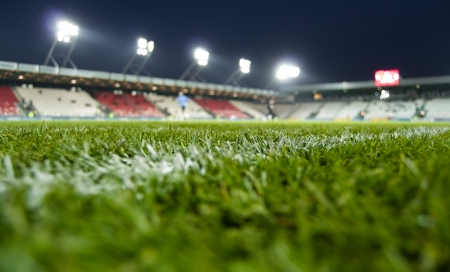football stadium: News stadium of Cracovia Stock Photo