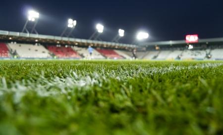 News stadium of Cracovia Stock Photo