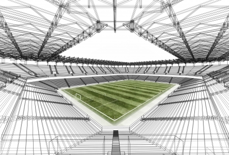 wire frame stadium