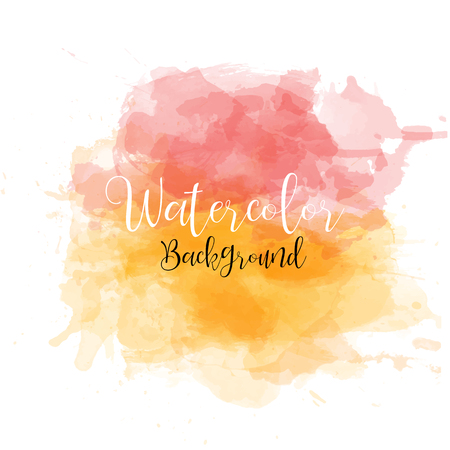 Beautiful watercolor background, banner