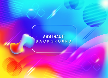 Abstract color background design Illustration