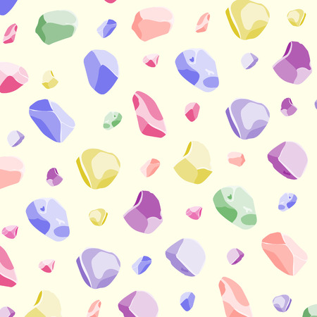 sweet Seamless rock and stone pattern with rainbow color Illustration