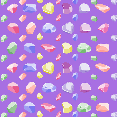 Seamless rock and stone pattern in rainbow style
