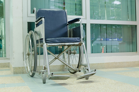 mobility nursing: Wheel chair and hospital background