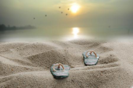 sandal: Sándalo y el fondo del mar Foto de archivo