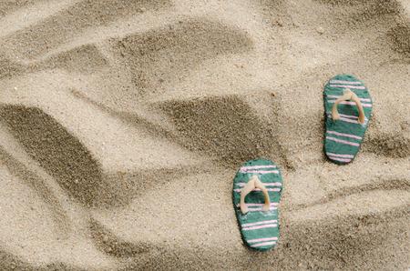 sandal: Sandal and beach background