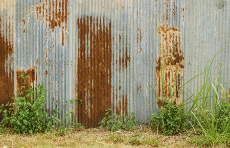 galvanized: Old galvanized fence background