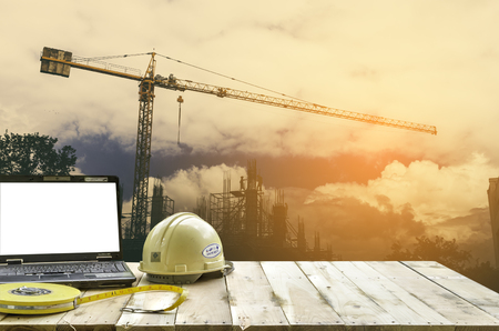 architect: Site office and site construction background