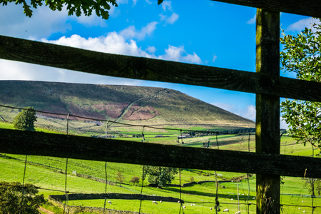 Pespective view on Pendle Hill on summer. Forest Of Bowland , Lancashire, England UK Stock Photo