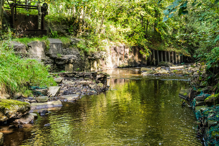 River on summer at English countryside, Forest Of Bowland, Lancashire, England UK