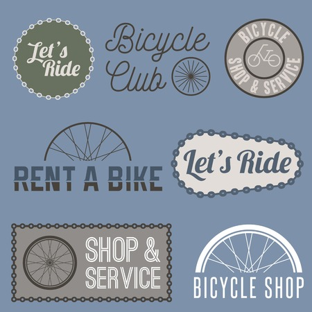 business sign: Vector bicycle sign for business Illustration
