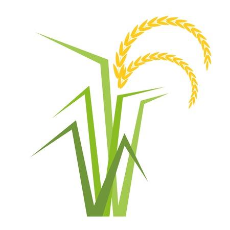 wektor drzewo ryż w stylu płaskiej Ilustracje wektorowe