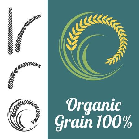 produits céréaliers: Vector riz signe Illustration