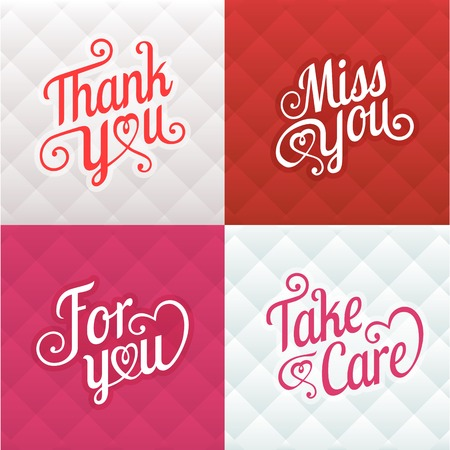 thanks you: Vector typography greeting card