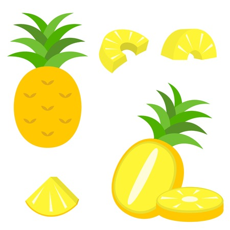 vector pineapple icon 일러스트