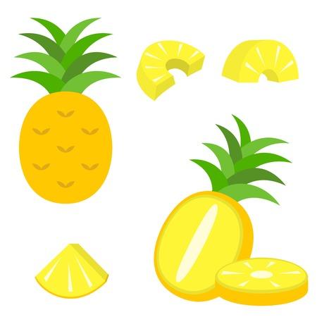 pineapple slice: vector pineapple icon Illustration