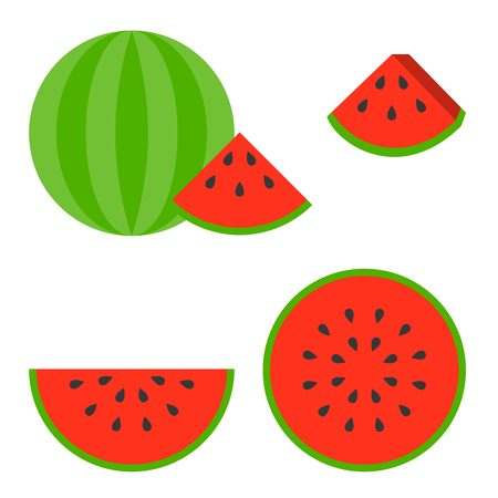 watermelon slice: Vector illustration of watermelon