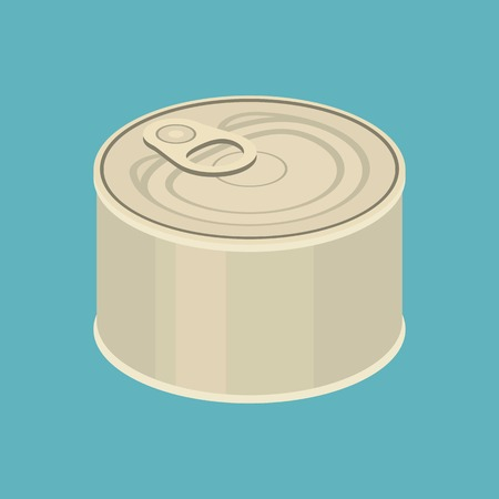 tinned: vector canned,flat design