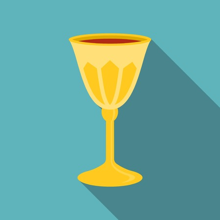 grail: Passover grail icon, flat design