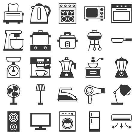 iron fan: Vector household icons