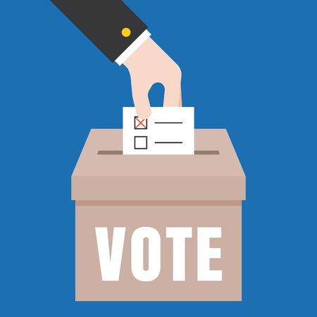 Vote illustratie, stem voor de verkiezingen begrip vector, plat design