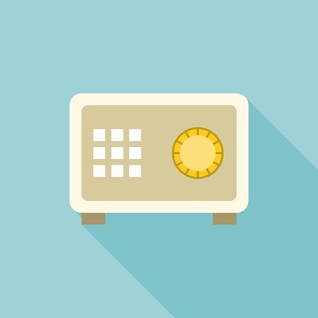 illustrator  vector: money safe box illustrator vector, safe box icon, flat design