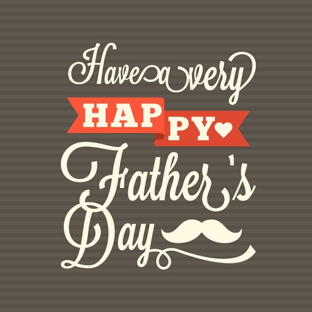 typographical: Happy fathers day vintage typographical