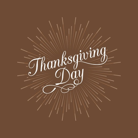 handwriting: Thanksgiving day calligraphic handwriting lettering and star burst