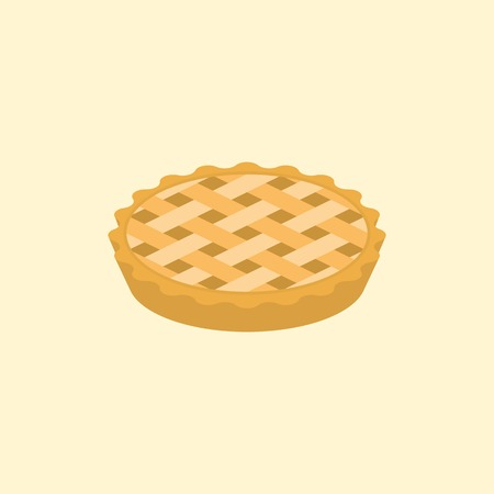 crust: crust pie illustration, flat design Illustration