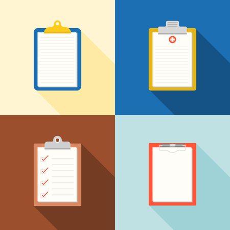 memo pad: clipboard  icon, medical chart, checklist, blank Chart flat icon,  design Illustration