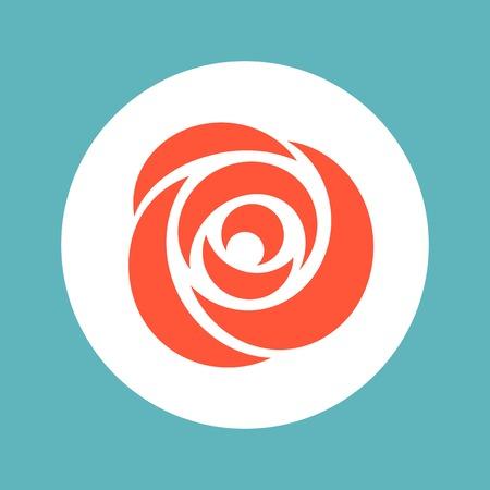 symbolic: Vector rose icon, valentine symbolic