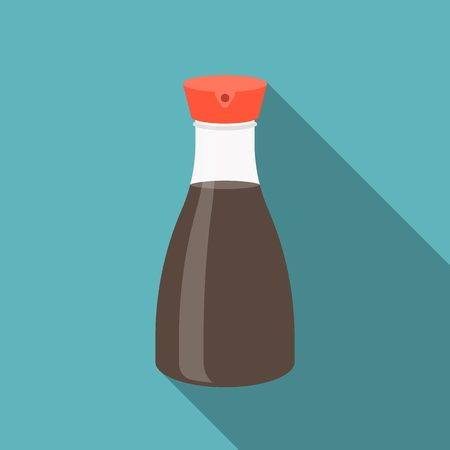 soy: Vector soy sauce bottle icon, flat design