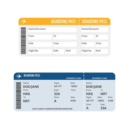 boarding: boarding pass vector, flat design