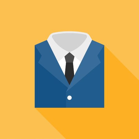 shirts on hangers: garb icon, flat design
