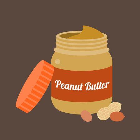 Peanut butter vector, flat design